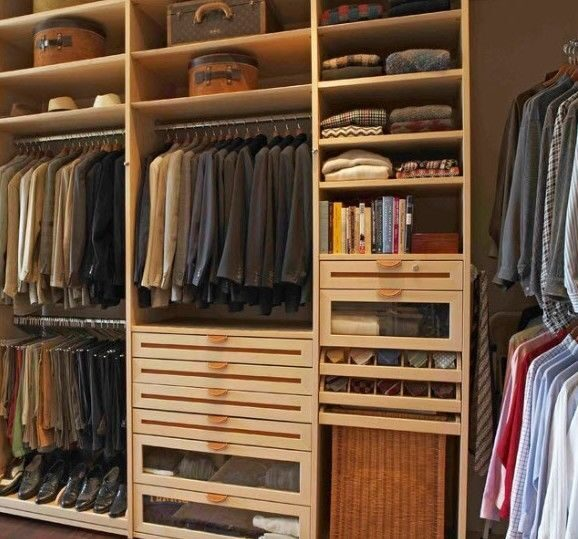 Наполнение гардеробных
