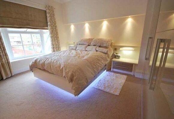 точечное освещение спальни