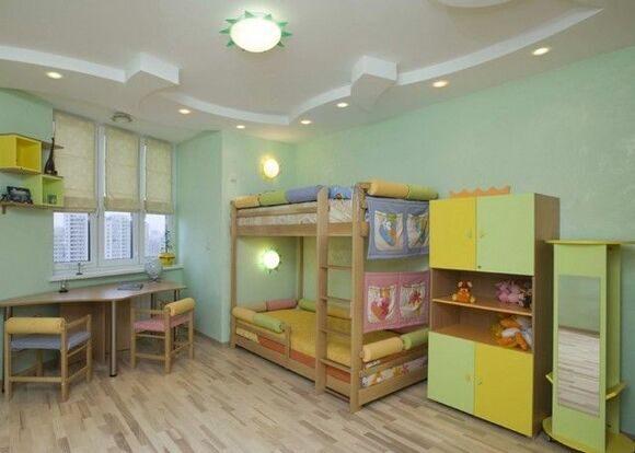 точечная подсветка детской комнаты