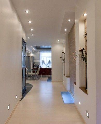 точечное освещение коридора